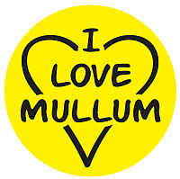 i love mullum sticker